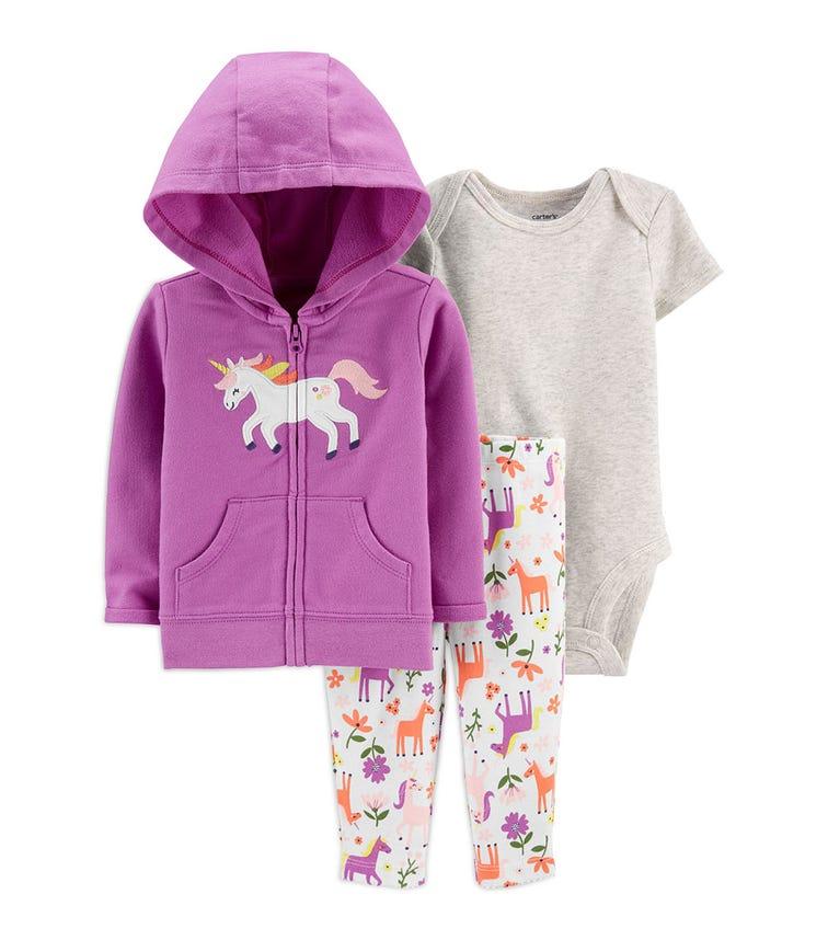CARTER'S 3-Piece Unicorn Little Jacket Set