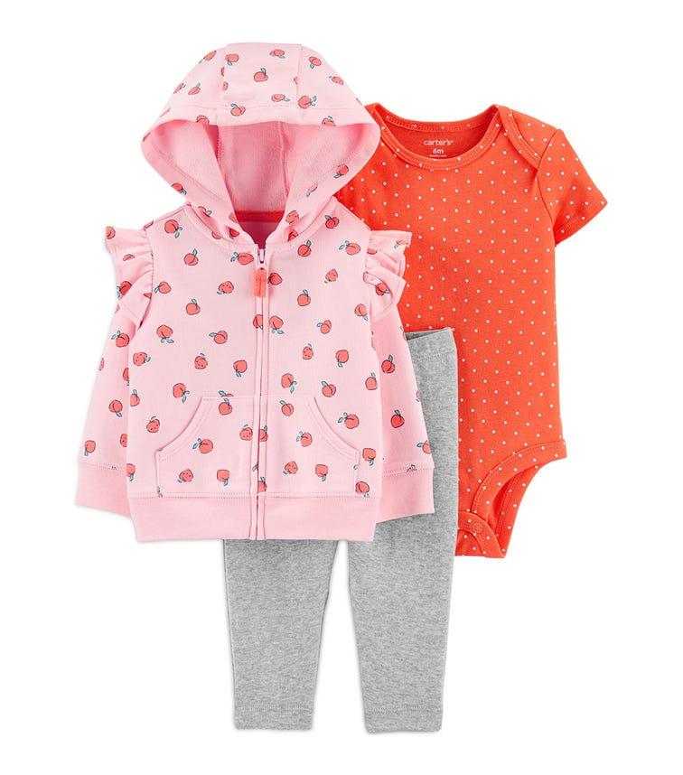 CARTER'S 3-Piece Peach Little Jacket Set