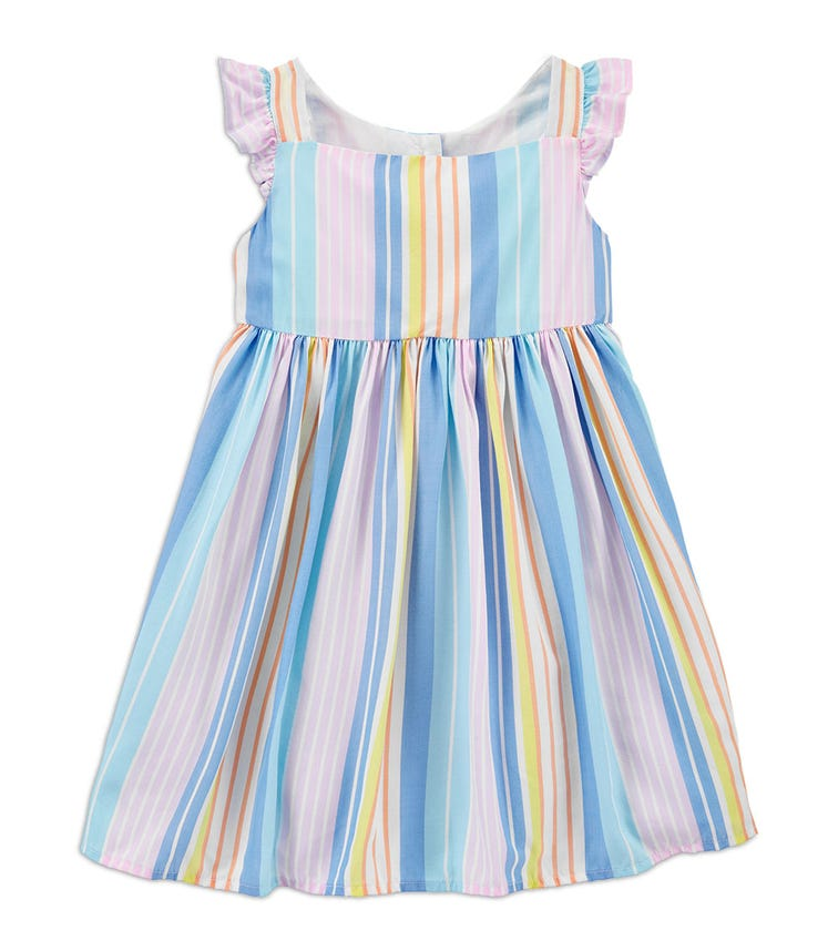 OSHKOSH Striped Flutter Sleeve Dress