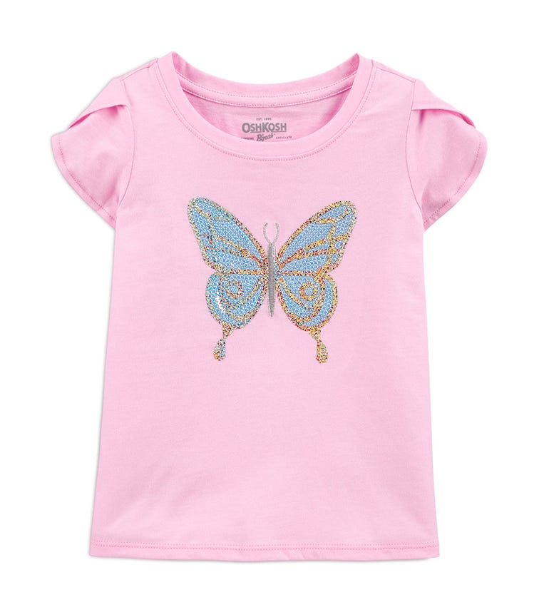 OSHKOSH Sequin Butterfly Top