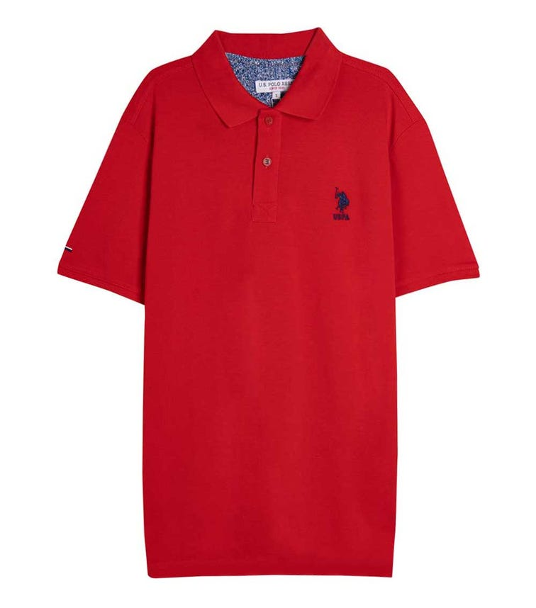 US POLO ASSN. - Logo Polo T Shirt Red