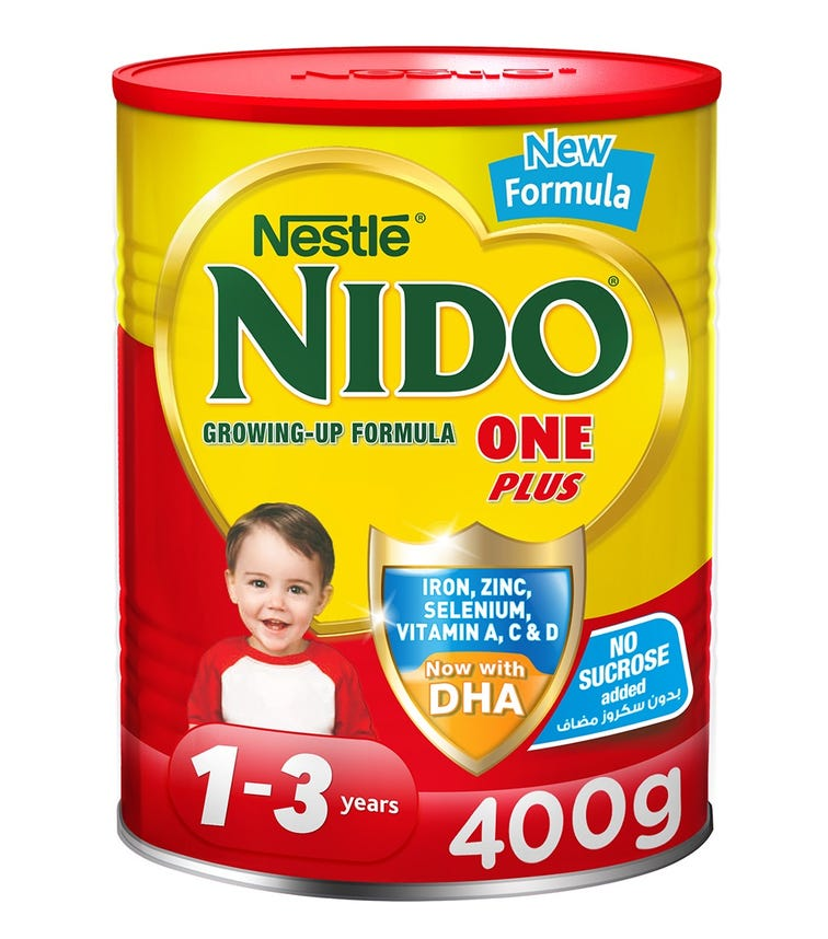 NESTLE Nido One Plus Growing Up Milk Powder For Toddlers (1-3 Years) - 400 G