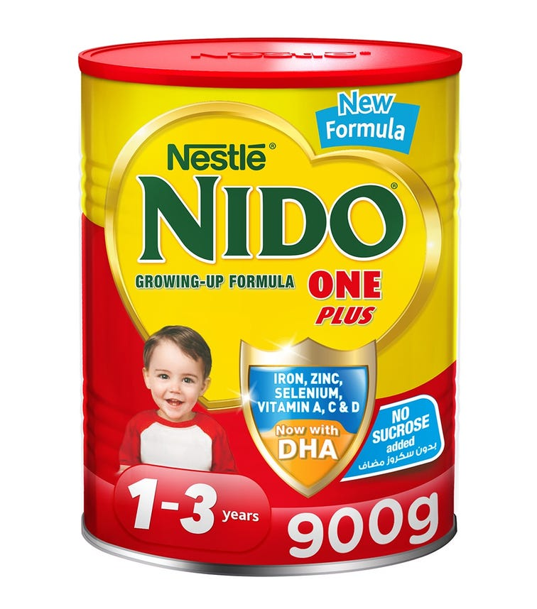 NESTLE Nido One Plus Growing Up Milk Powder For Toddlers (1-3 Years) - 900 G