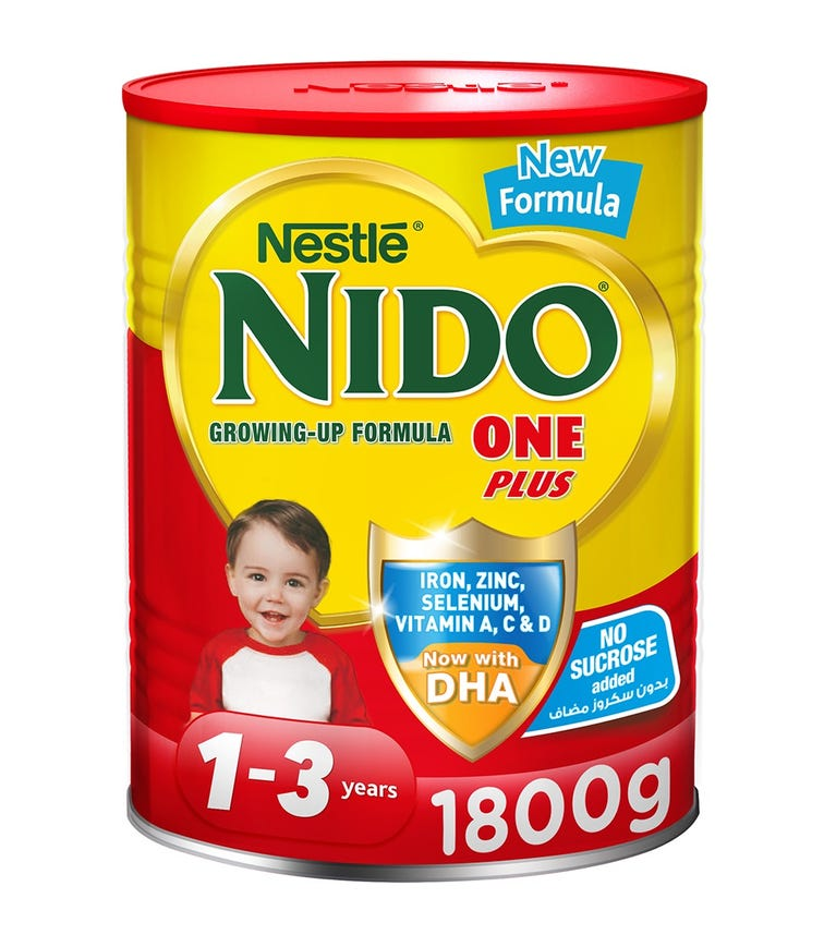 NESTLE Nido One Plus Growing Up Milk Powder For Toddlers (1-3 Years) - 1.8 KG