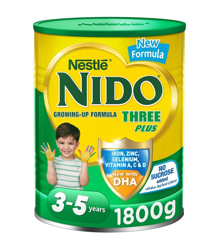 NESTLE Nido Three Plus Growing Up Milk Powder For Toddlers (3-5 Years) - 1.8 KG