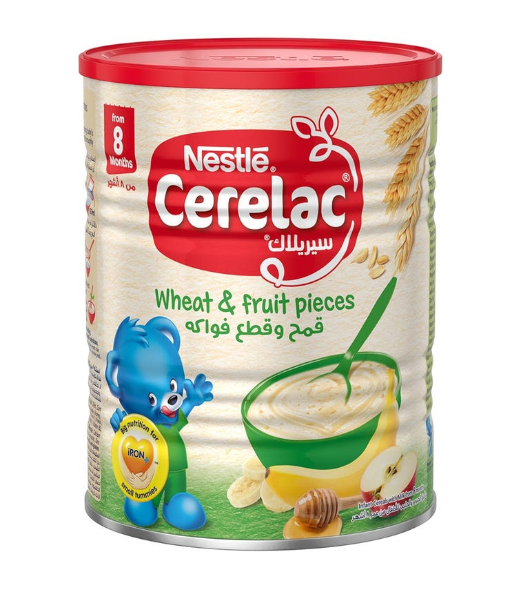 NESTLE Cerelac Infant Cereals With Iron And Wheat & Fruit Pieces