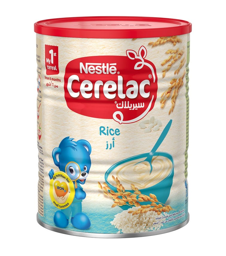 NESTLE Cerelac Infant Cereals With Iron And Rice From 6 Months
