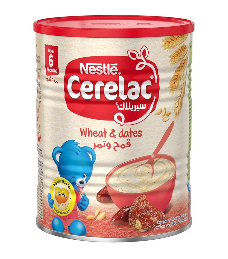 NESTLE Cerelac Infant Cereals With Iron And Wheat & Dates
