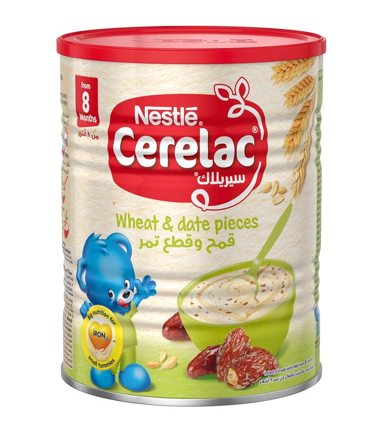 NESTLE Cerelac Infant Cereals With Iron And Wheat & Date Pieces