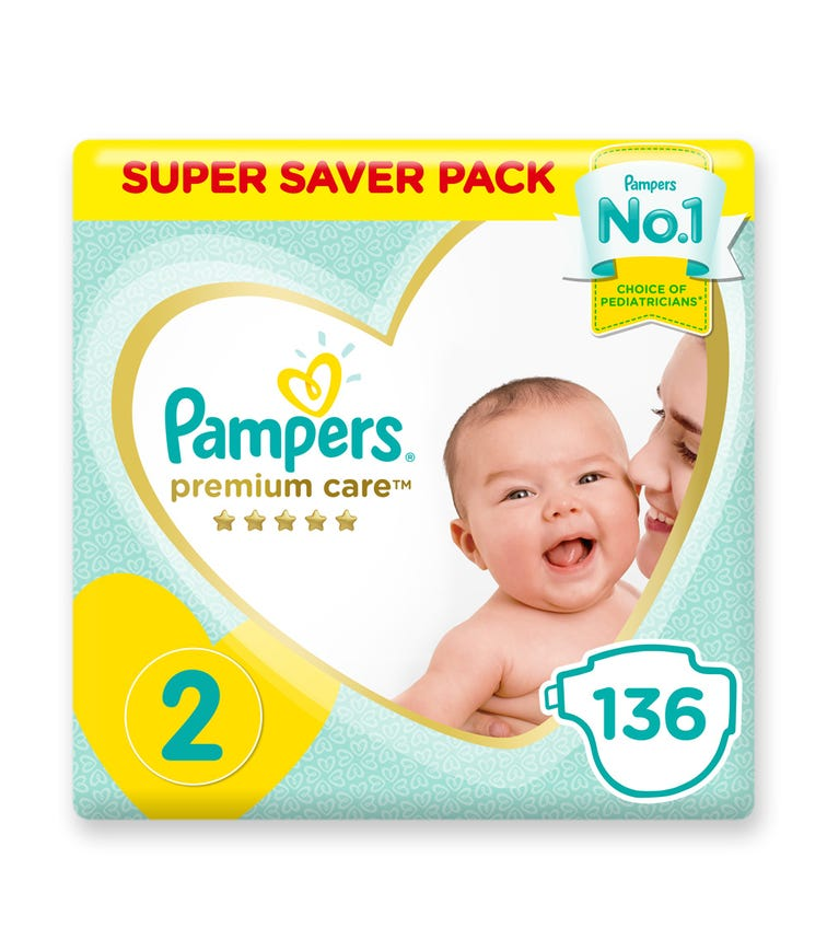 PAMPERS Premium Care Diapers, Size 2,  Mini