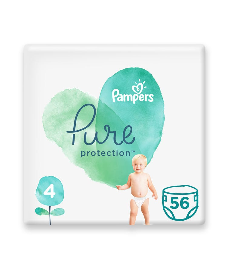 PAMPERS Pure Protection Diapers, Size 4