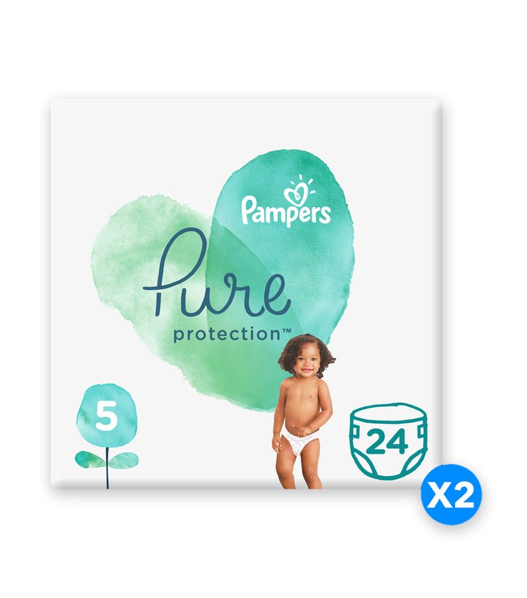 PAMPERS Pure Protection Diapers, Size 5