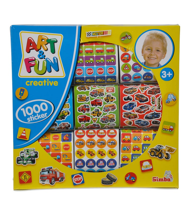 SIMBA ART & FUN 1000 Stickers For Boys