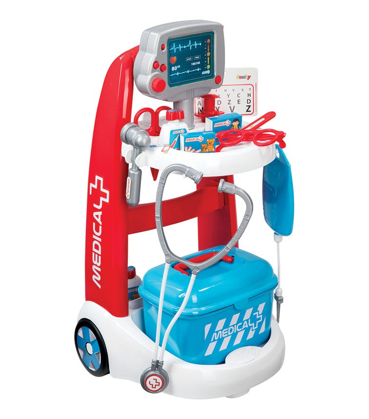 SMOBY Medical Trolley With 16 Accessories