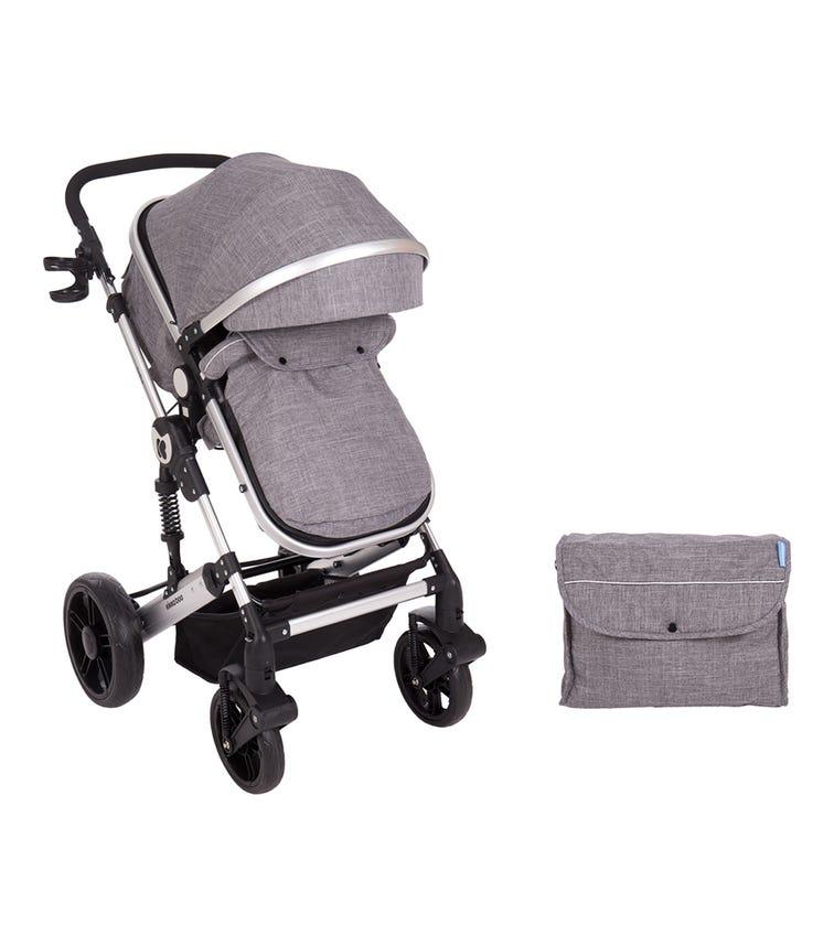 KIKKABOO Stroller 2 In 1 Darling Dark Grey