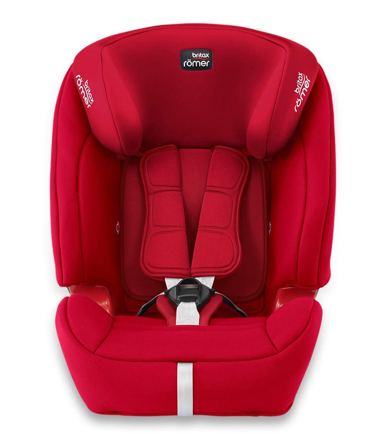BRITAX Romer Evolva 123 Plus From 9 Months - 12 Years ISOFIX With Base Fire Red