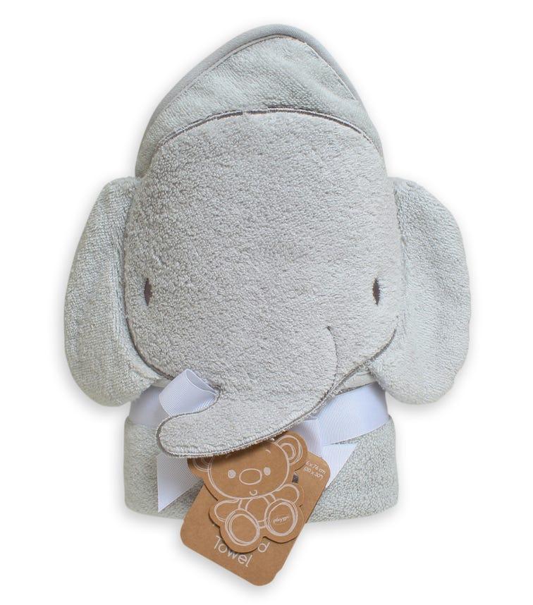 PLAYGRO Home Hooded Towel Elephant - Grey