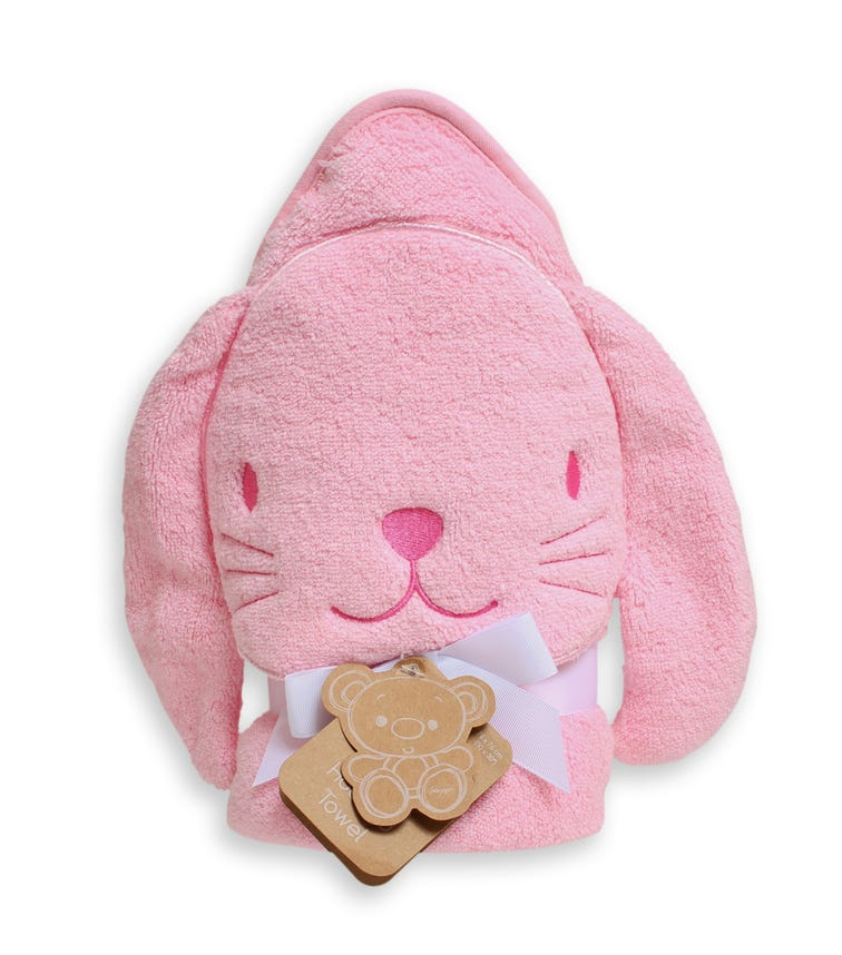 PLAYGRO Home Hooded Towel Bunny - Pink