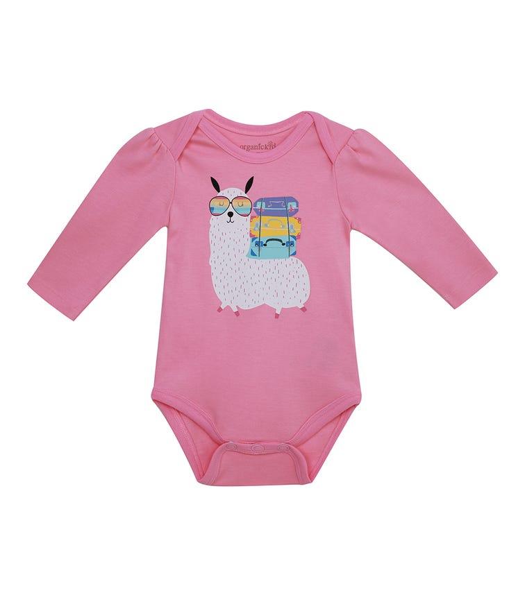 ORGANIC KID Llama Bodysuit