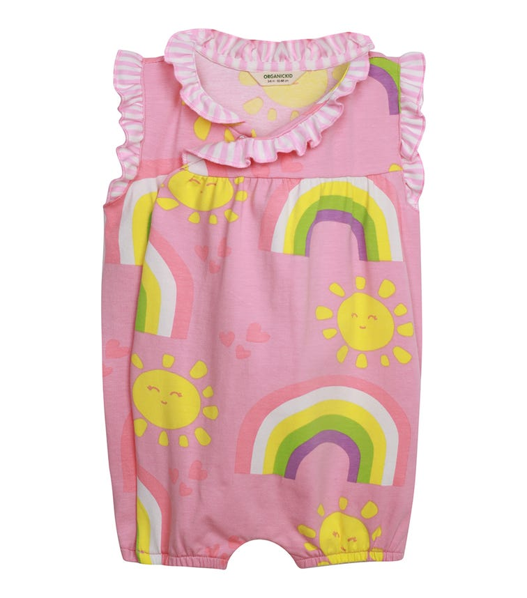 ORGANIC KID Rainbow Capri Bodysuit