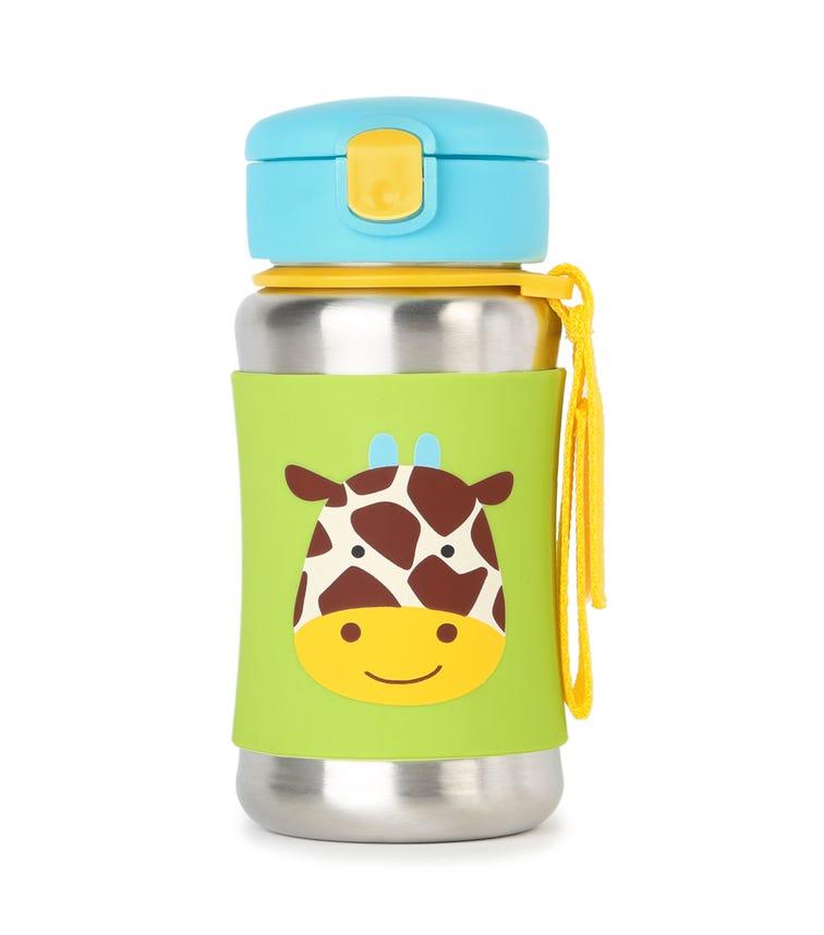 SKIP HOP Zoo Stainless Steel Straw Bottle Giraffe