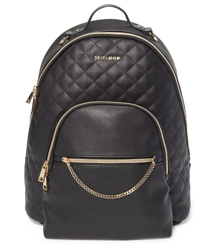 SKIP HOP Linx Quilted Diaper Backpack Black