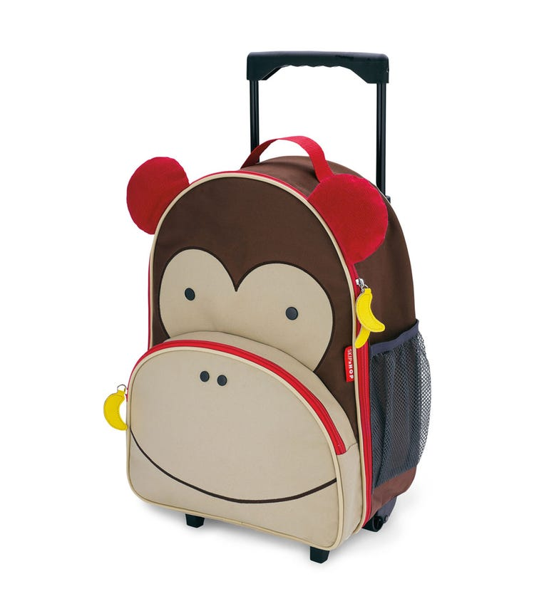 SKIP HOP Zoo Kids Rolling Luggage Monkey