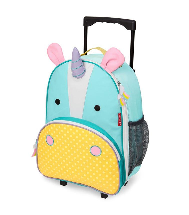 SKIP HOP Zoo Kids Rolling Luggage Unicorn