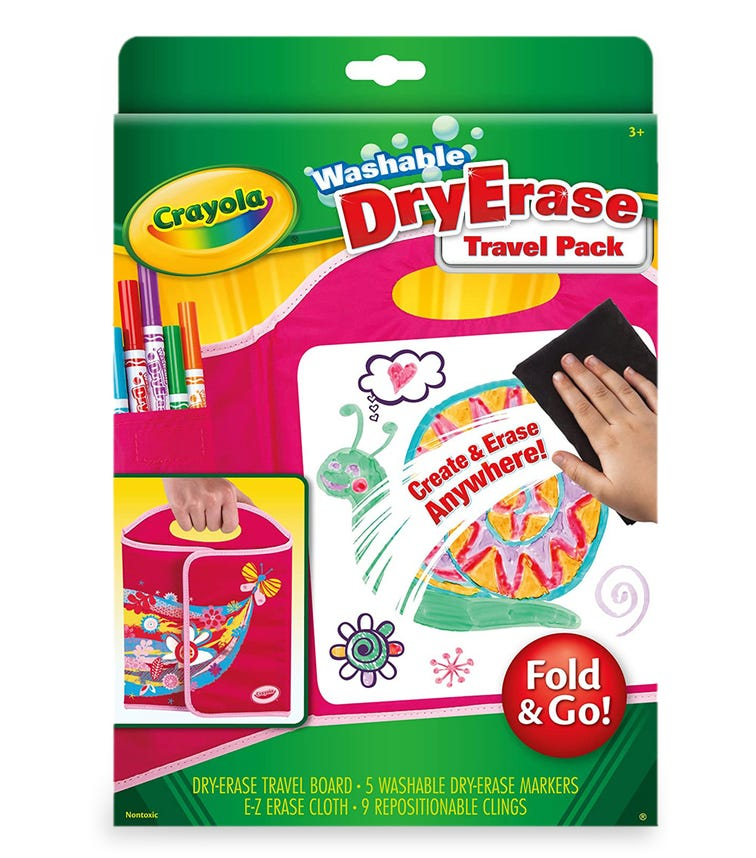CRAYOLA Dry-erase Fold & Go Travel Pack