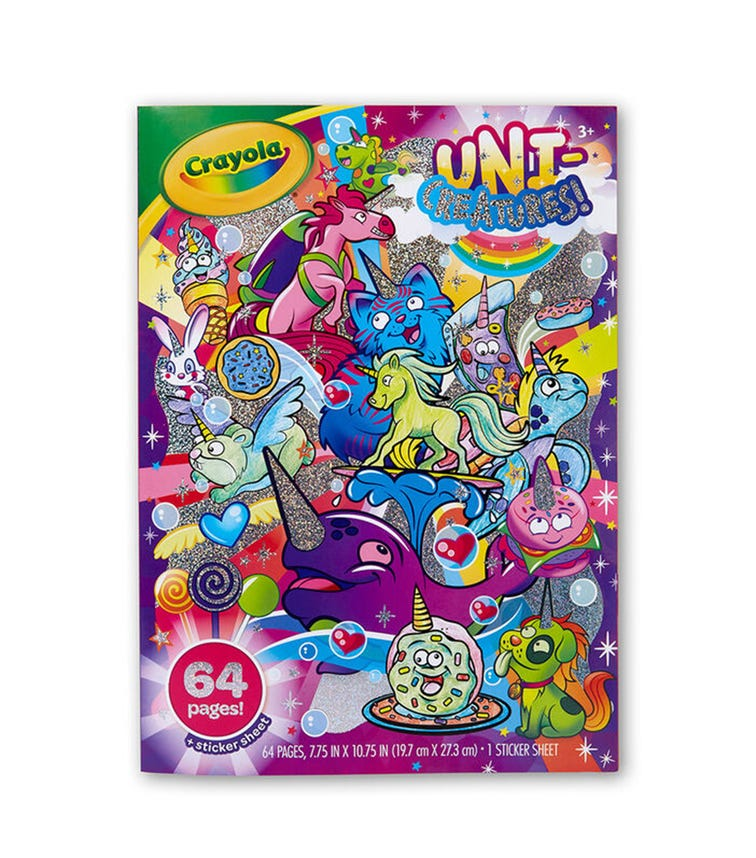 CRAYOLA 64 Pages Coloring Book Unicreatures!