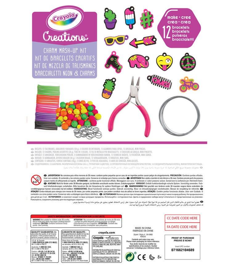 CRAYOLA Creations Neon Charm Mashup Kit