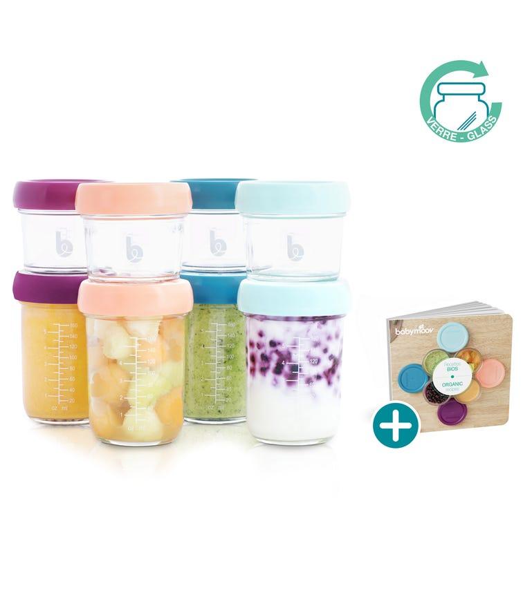 BABYMOOV Glass Baby Bowls Airtight Food Storage