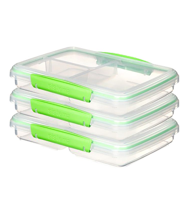 SISTEMA 3-Pack Meal Prep To Go - Green