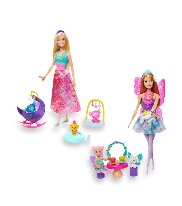 BARBIE Dreamtopia With Doll Fantasy Story Set Asst