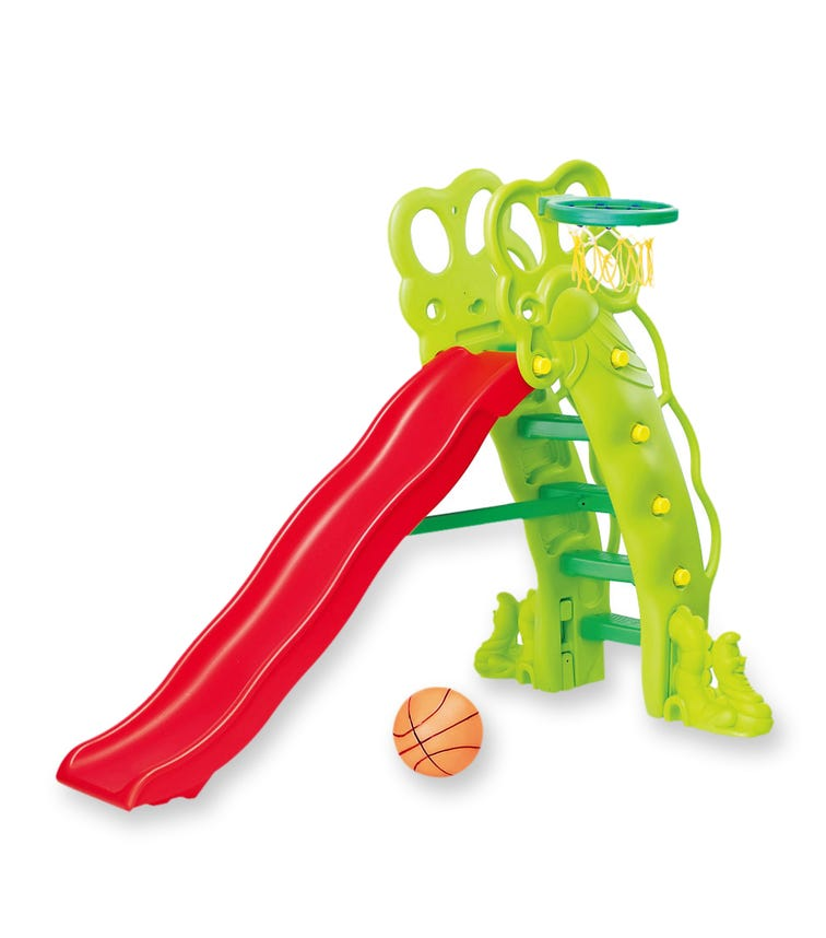 CHING CHING High Pea-Shaped Slide With Basketball Set (180cm)