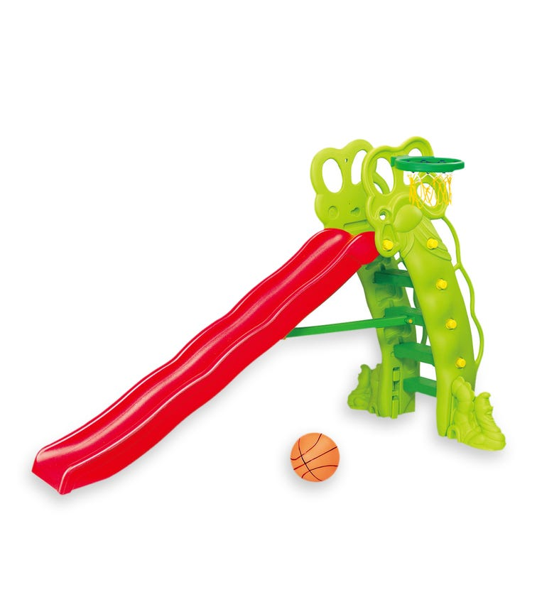 CHING CHING High Pea-Shaped Slide With Basketball Set (220cm)