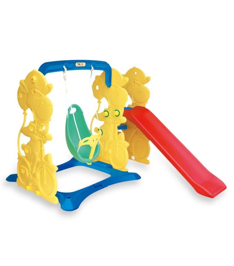 CHING CHING Giraffe Slide + Swing Set