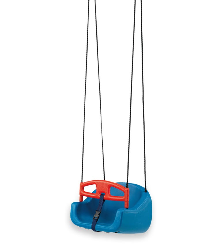CHING CHING Children's Swing + Safety Belt (Blue/Red)