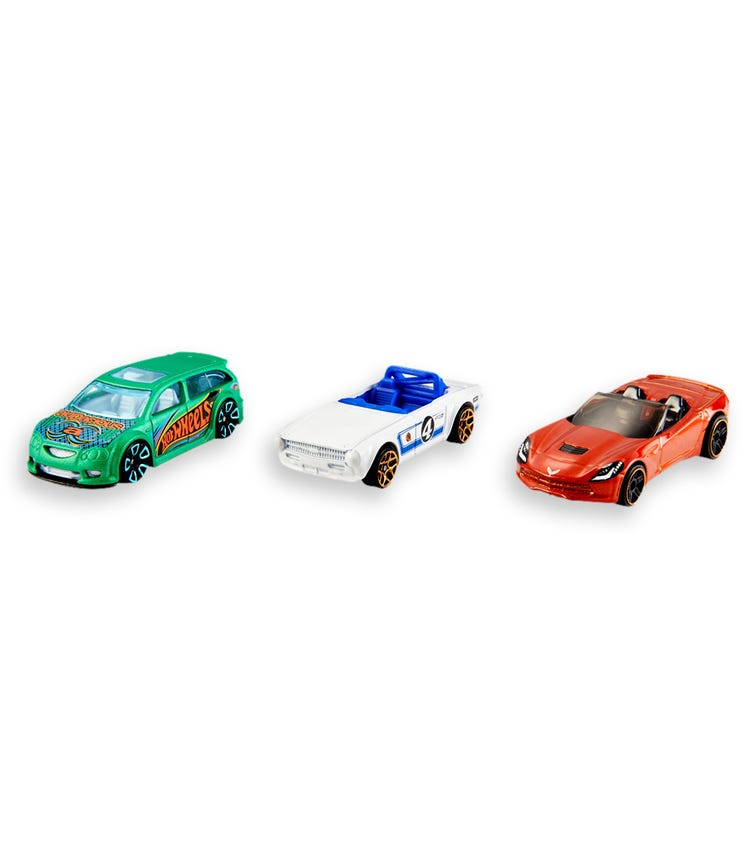 HOT WHEELS Basic Cars 3 Car Pack Assorted