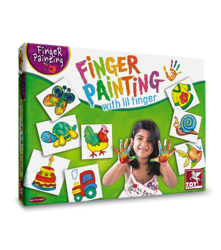 TOY CRAFT Finger Painting With Little Fingers