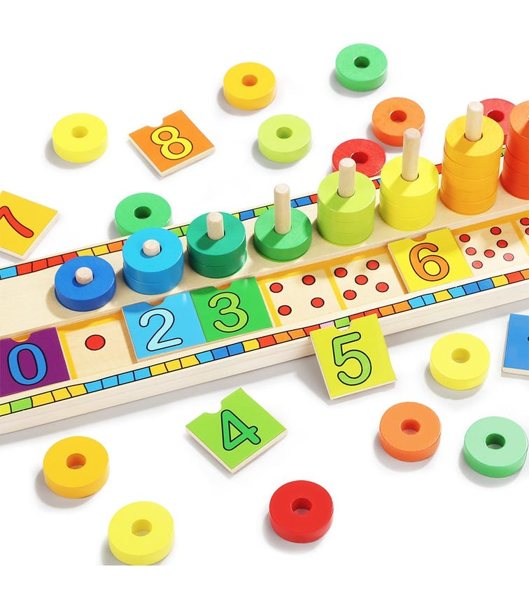 TOPBRIGHT Rainbow Donuts Count & Match Numbers