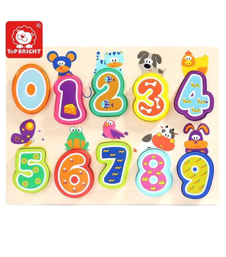 TOPBRIGHT Animals & Numbers Puzzle