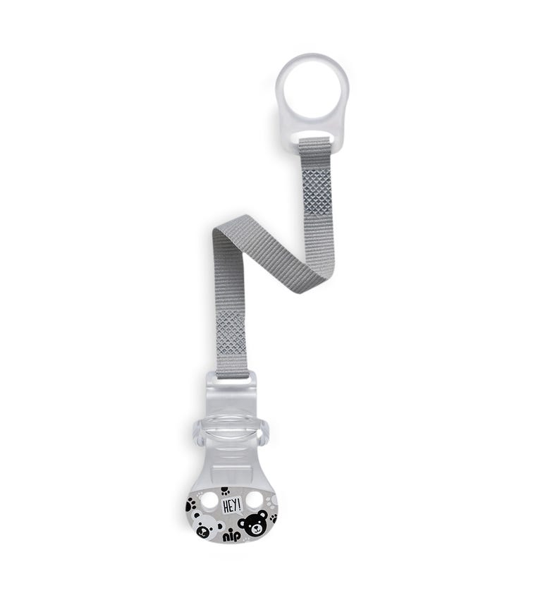 NIP Soother Band With Ring - Grey