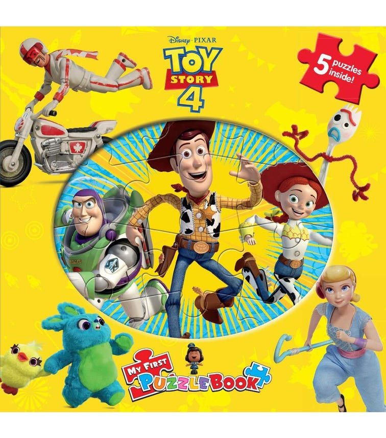 PHIDAL Disney Toy Story 4 My First Puzzle Book