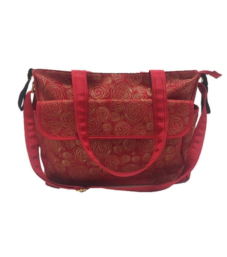 SUMMER INFANT Messenger Changing Bag Red/Gold Swirl
