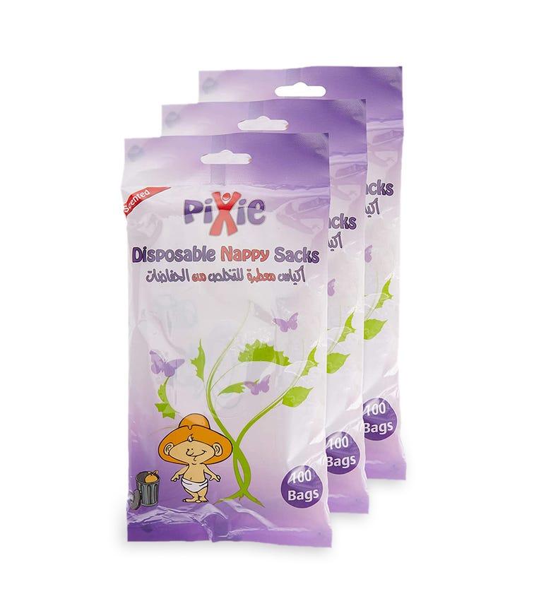 PIXIE Disposable Nappy Sacks - Bundle Of 3