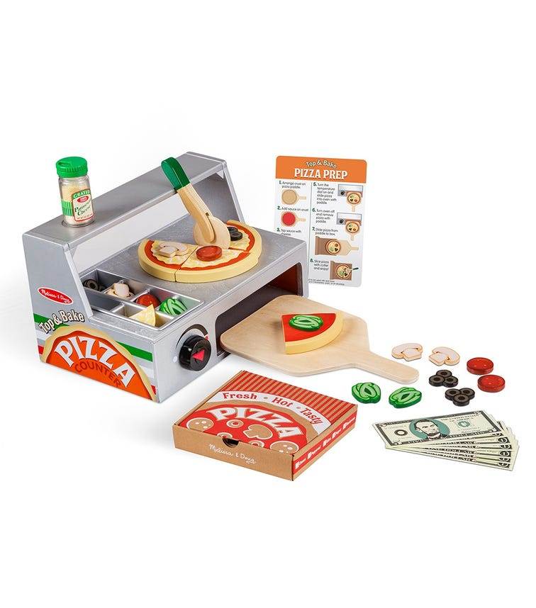 MELISSA&DOUG Top & Bake Pizza Counter