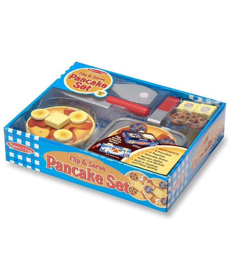 MELISSA&DOUG Wooden Flip & Serve Pancake Set