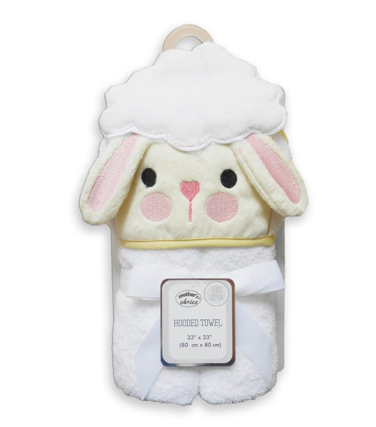 MOTHER'S CHOICE 3D Hooded - Towel Sheep