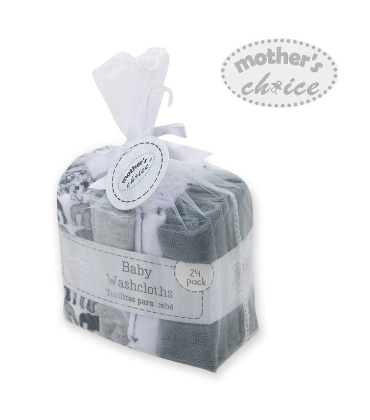 MOTHER'S CHOICE Baby 24 Pack Wash Cloths